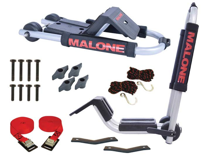 Malone DownLoader™ Kayak Carrier with Tie-Downs - J-Style - Folding - Side Loading