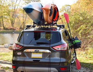Malone FoldAway-5 Multi Rack Folding 1 or 2 Kayak, SUP, Canoe Carrier