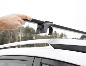 "Malone SteelTop™ Roof Rack - Square Crossbars - Raised, Factory Side Rails - Steel - 50"", 58"" and 65"""