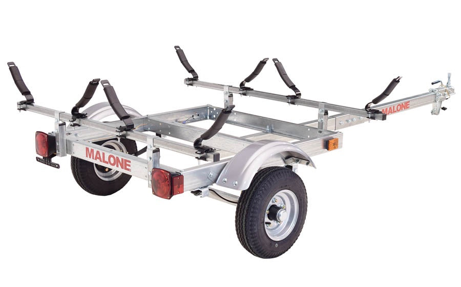 Malone EcoLight 2 Kayak Trailer Package (2 V-Racks)