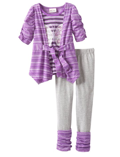 Stripe Glitter Butterfly Knit  - 4 t