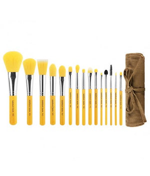 Yellow Bambu Complete 15 pcs Brush Set