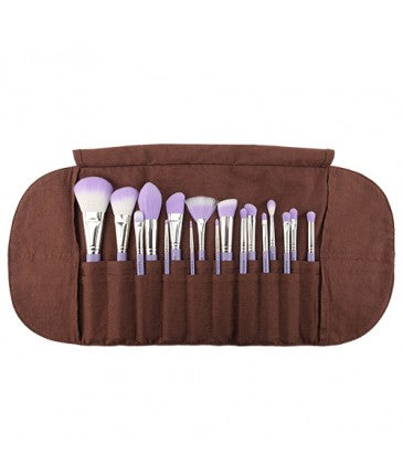 Purple Bambu Precision 17pcs Brush Set with Roll