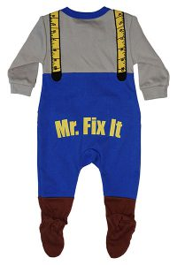 Mr Fix It Footed Romper 6-9 months