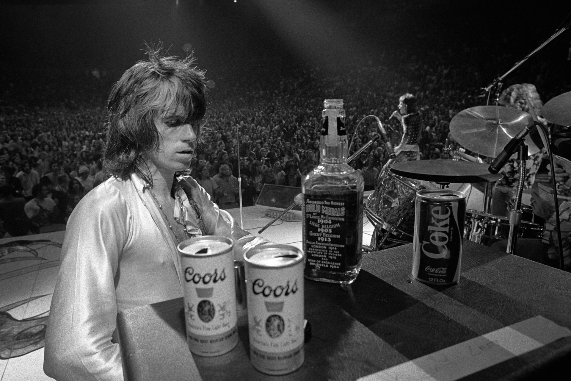 KEITH RICHARDS WITH JACK AND COORS 1972