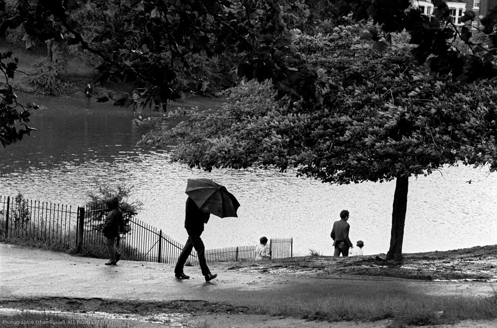 By the Serpentine, London's Hyde Park 1967
