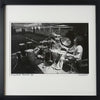Framed, signed and titled 8x10 archival print of Carlos Santana in rehearsal c. 1970 (One only)
