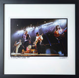 Framed, signed and titled 8x10 archival print of The Rolling Stones onstage 1972. (One only)