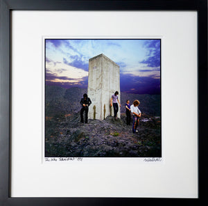 Framed, signed and titled 8x10 archival print of The Who, Who's Next (One only.)