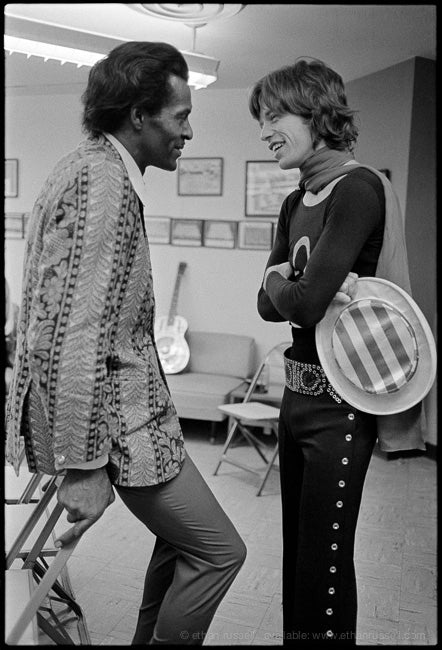 SHPC Chuck Berry and Mick Jagger 1969