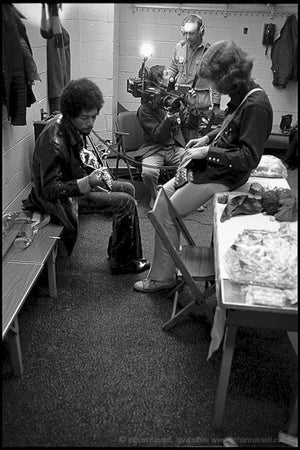 Jimi Hendrix and Mick Taylor 1969