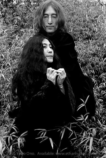 "John Lennon and Yoko Ono ""Capes"" © Ethan Russell 1968"