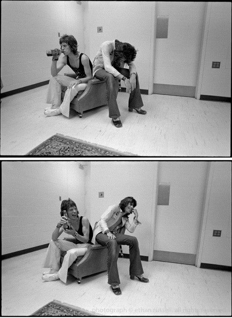 "Mick Jagger and Keith Richards ""Drink & Laugh"" 1969"