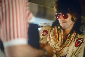 "Keith Richards ""Coke & Tongue"" onboard 1972 Stones plane"