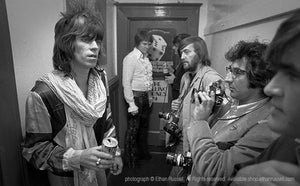 Keith Richards, Bobby Keyes, Ken Regan, Jim Marshall, and Ian Stewart Backstage at Winterland 1972