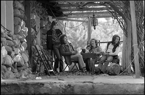 The Eagles at Bernie Leadon's, Topanga Canyon c. 1971