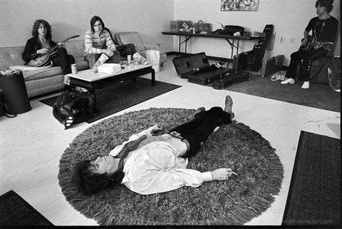 "Keith Richards ""Rug"" Backstage in Los Angeles 1969"