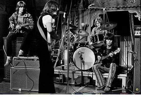 "John Lennon, Eric Clapton, Keith Richards & Mitch Mitchell "" THE DIRTY MAC"" 1968"