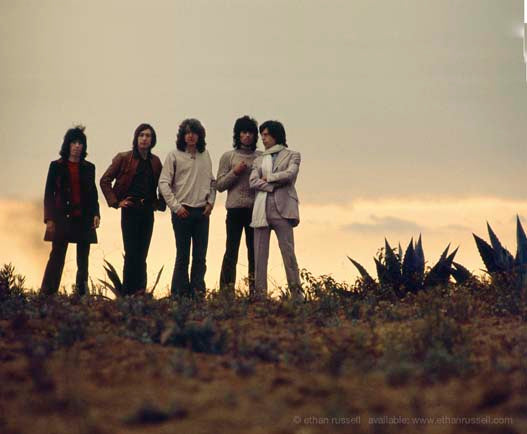 The Rolling Stones On a Los Angeles Hilltop 1969