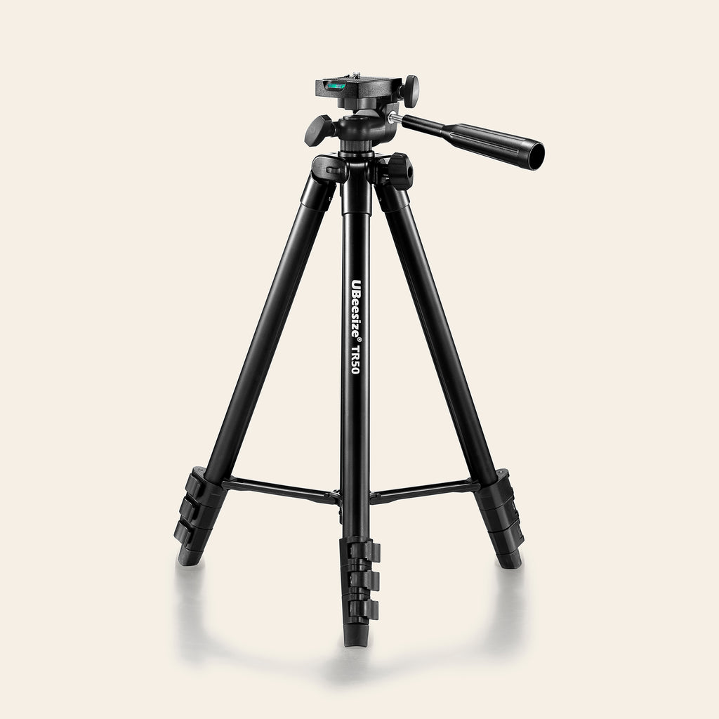 50 Adjustable Travel Video Tripod Stand with Cell Phone Mount Holder /& Smartphone Bluetooth Remote Compatible with iPhone//Android UBeesize Phone Tripod