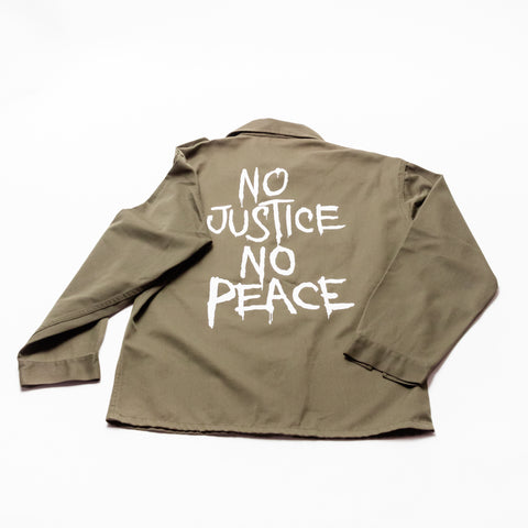 No Justice No Peace Army Jacket