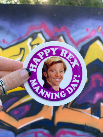 Rex Manning Day Sticker