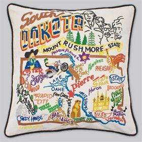 South Dakota Embroided Pillow
