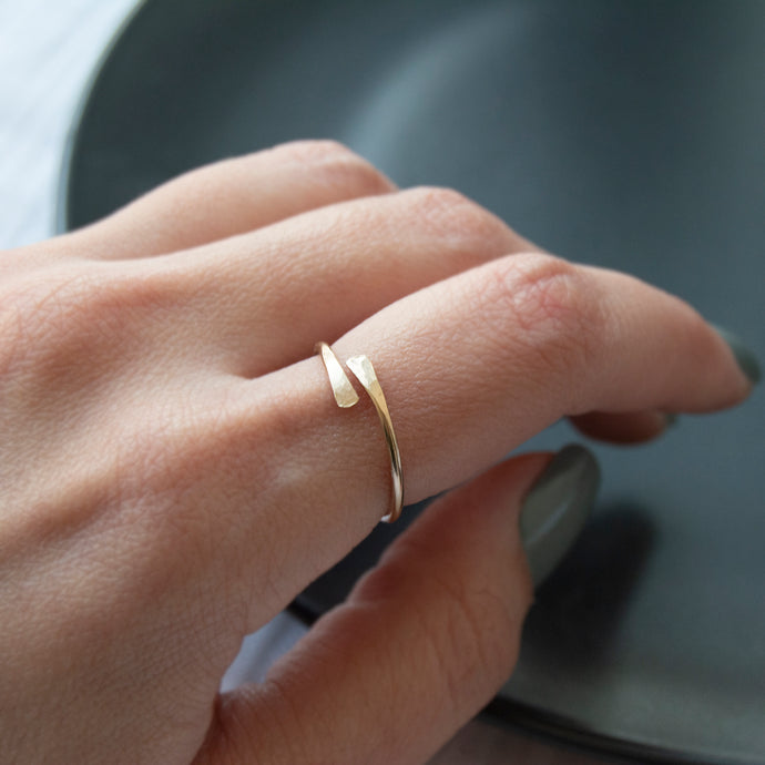 Wrap Ring - Gold Fill & Sterling Silver