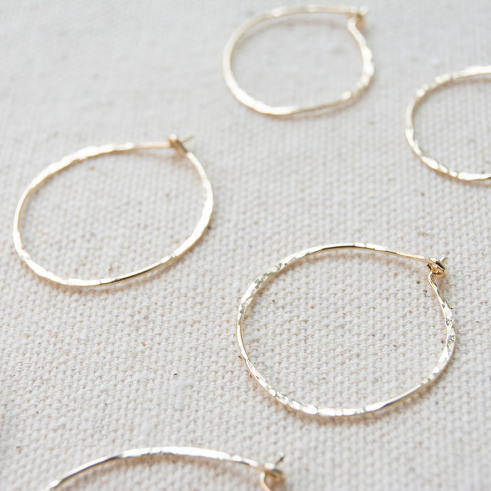 Organic Gold Fill Hoops