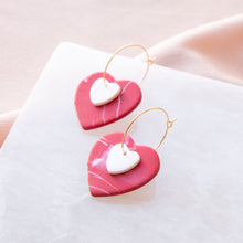 Load image into Gallery viewer, Mix & Match Heart Hoops