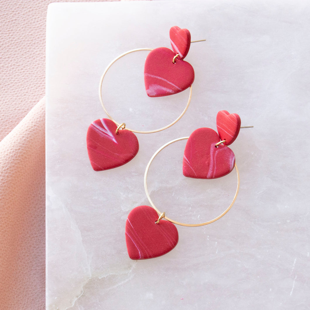Heart Hoop Dangle