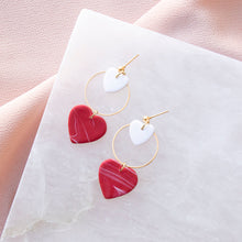 Load image into Gallery viewer, Mini Heart Hoop Dangle