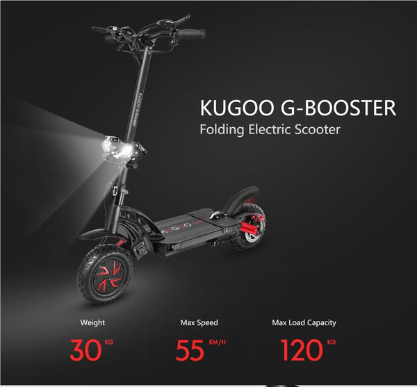 Portable Electric Scooter With Seat – Kugoo G-booster Electric Scooter