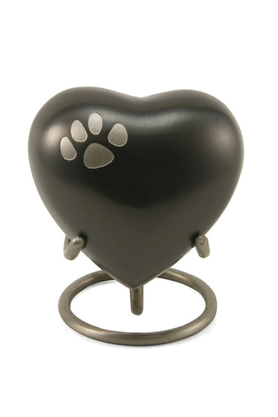 Keepsake Heart* - Classic Single Paw Slate