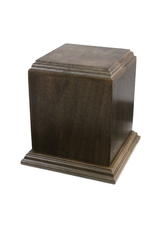Wooden Imperial Urn - Walnut