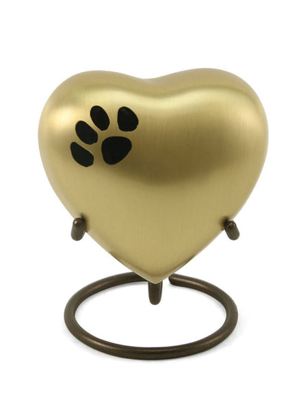 Keepsake Heart* - Classic Single Paw Bronze