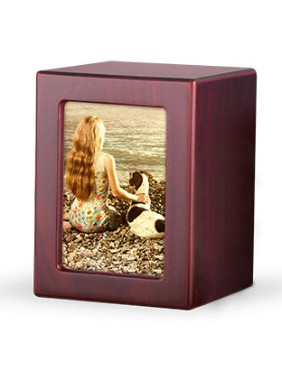 Wood Photo Urn - Cherry