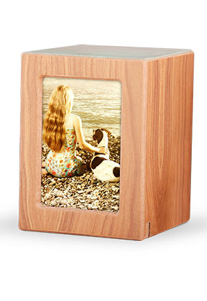 Wood Photo Urn - Natural