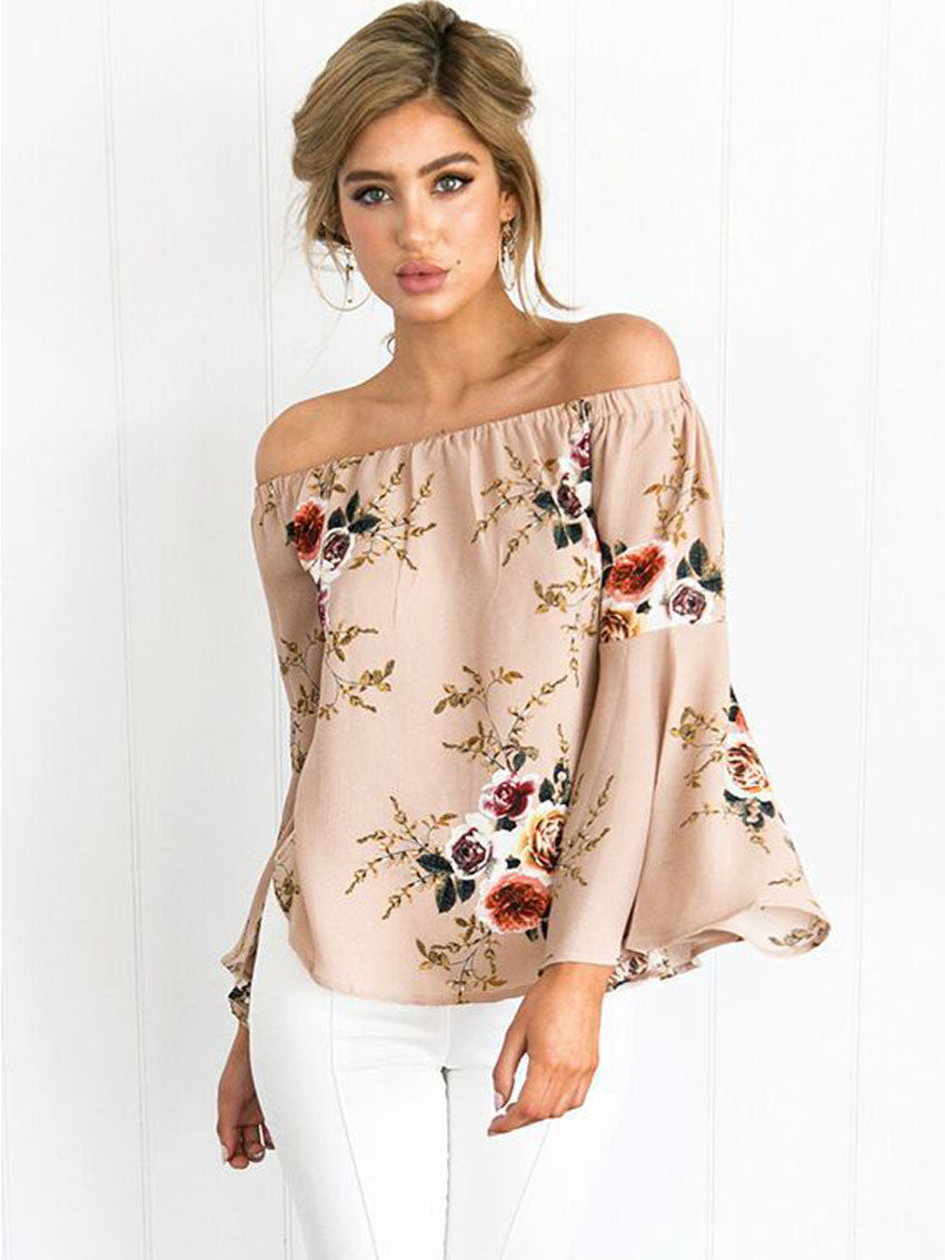 Image of   Louise Off shoulder-bluse