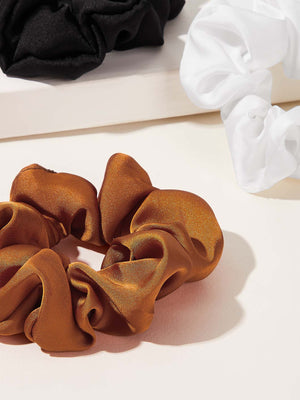 SATIN SCRUNCHIE 3 STK