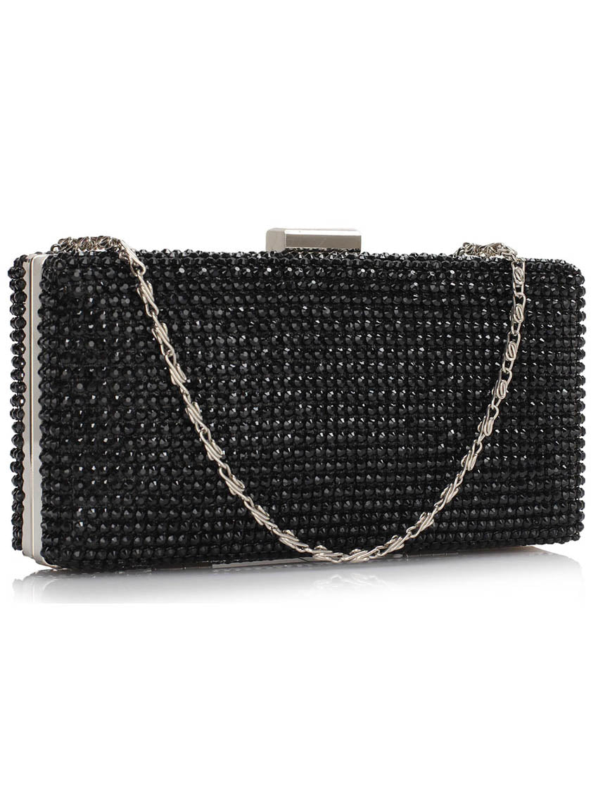 Image of   Alina Sort Diamant Clutch