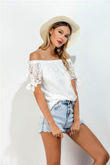 Off Shoulder Blondebluse