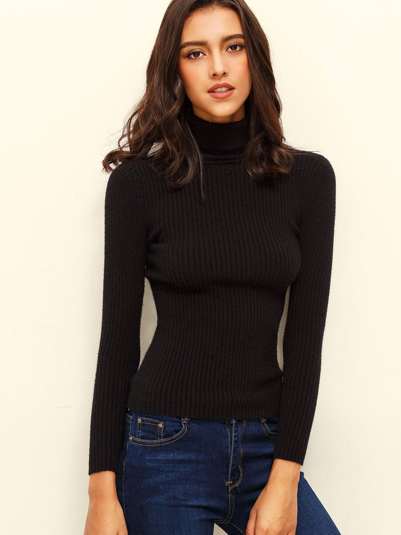 RIBBET RULLEKRAVE PULLOVER