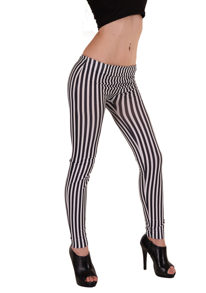 Stribet s/h legging