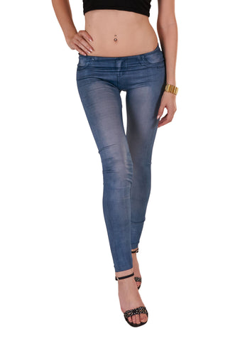 Denim legging lys