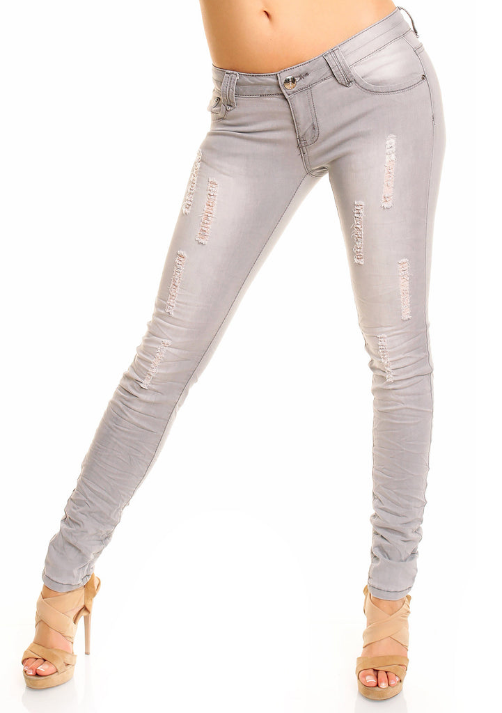 Denim Just F. Paris treggings - Grå