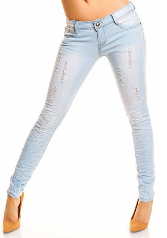 Denim Just F. Paris treggings - Blå