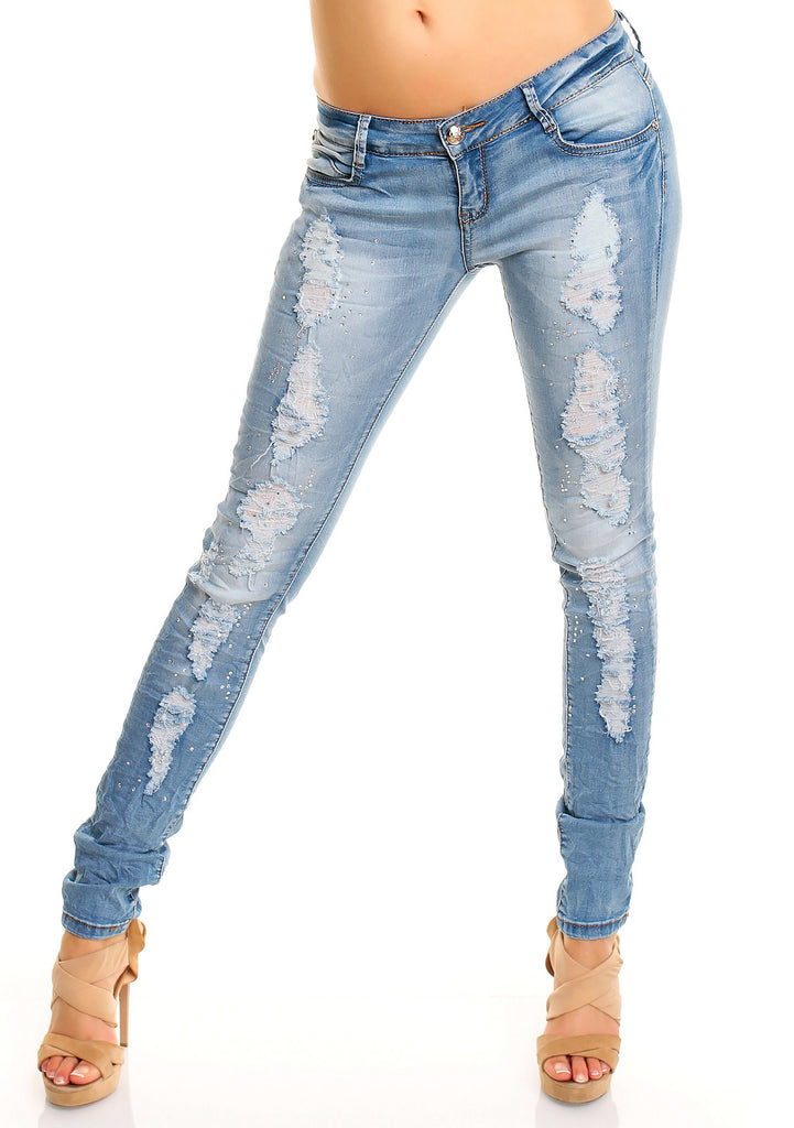 Laulia treggings m. sten - Denim