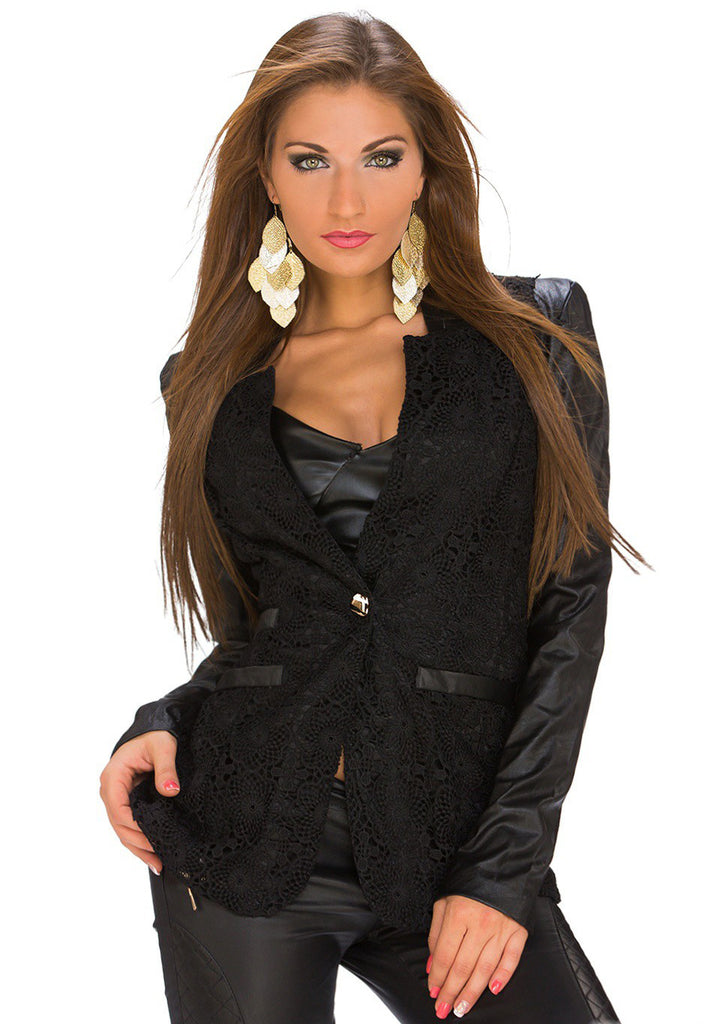 Adriana Blonde Blazer - Sort