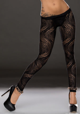 Wave Legging - Sort